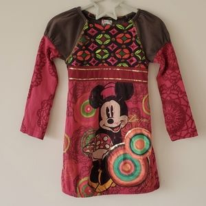 Disney X Desigual Minnie Mouse Dress or Tunic Toddler Size 4